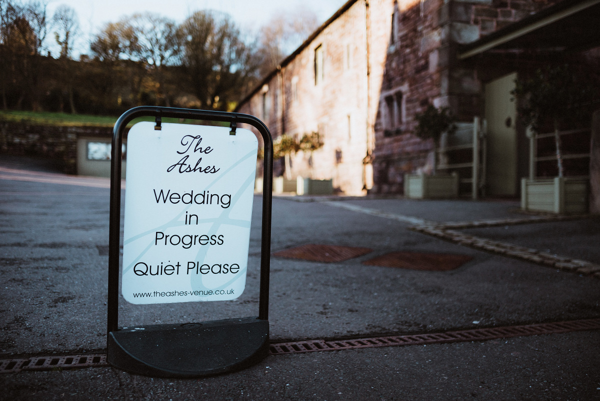 wedding sign outside