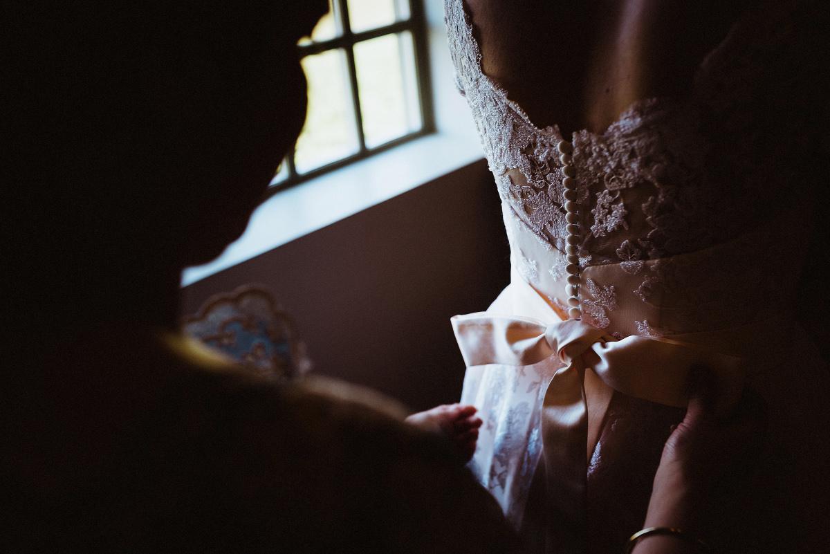 wedding dress laced up
